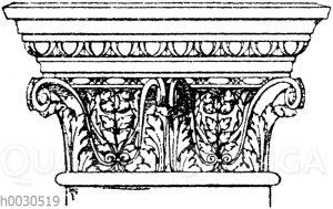 Pilasterkapitell: Korinthisches Pfeilerkapitell. Ital. Renaissance. Dogenpalast in Venedig.