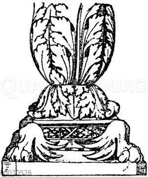 Kandelaberfuß: Fuß eines römischen Marmorkandelabers.