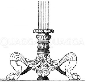 Kandelaberfuß: Fuß eines antiken Bronzekandelabers.(Bötticher)