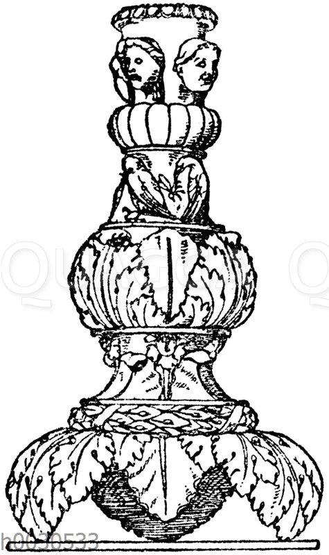 Kandelaberschaft: Schaftpartie eines römischen Marmorkandelabers.