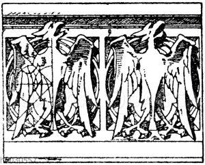 Gotische Balustrade für Stein. Nach Viollet-le-Duc. Schloss Pierrefonds. (Raguenet). 19. Jahrhundert.