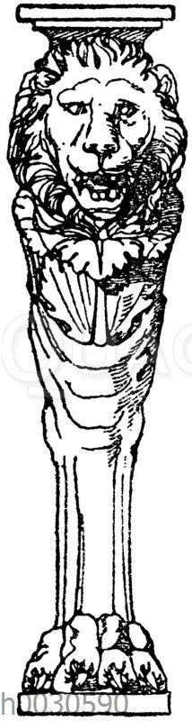 Trapezophor: Römischer Tischfuß aus Marmor