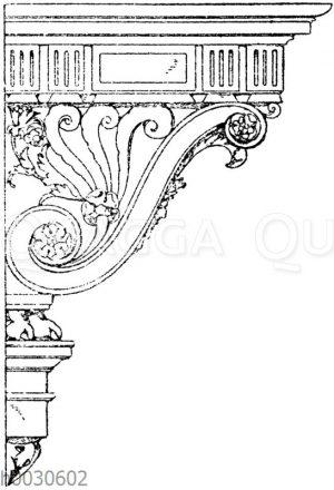 Renaissancekonsole vom Hotel d'Assezat in Toulouse
