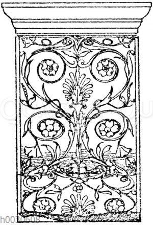 Vorderseite einer Marmorkonsole. Ital.Rennaissance. Aus Sta. Maria de' miracoli in Venedig. (Gropius)