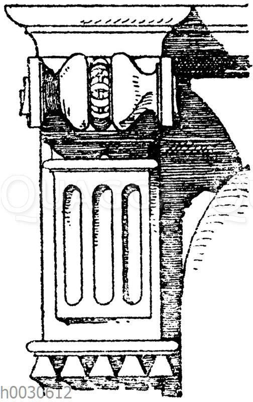 Triglyphenkonsole. Französische Spätrenaissance.