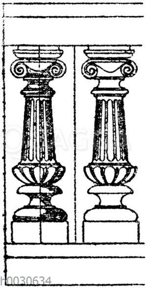 Docken aus gebranntem Ton. 19. Jahrhundert.