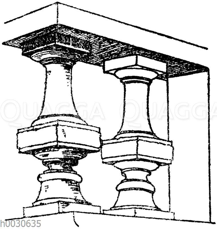 Französische Docken. Architekt Roux in Paris. 19. Jahrhundert.