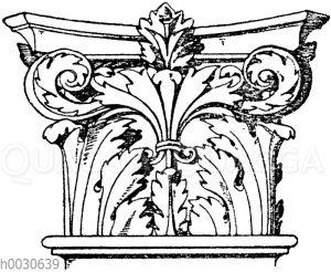Korinthisches Pilasterkapitell. Ital. Renaissance. Aus der Certosa bei Florenz.