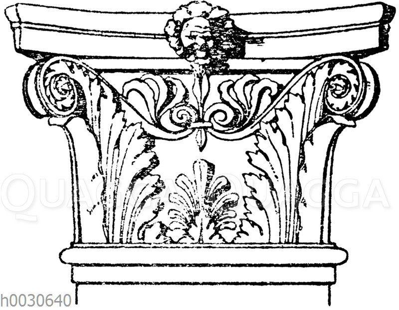 Korinthisches Pilasterkapitell. Ital. Renaissance. Scuola di San Marco in Venedig