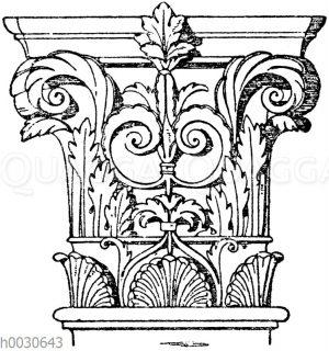 Korinthisches Pilasterkapitell. Ital. Renaissance.