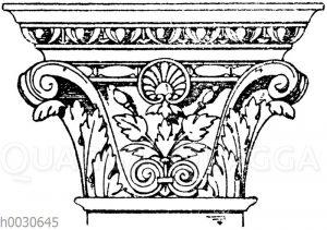 Korinthisches Pilasterkapitell. Ital. Renaissance. Hof bei der Scala dei Giganti in Venedig. (Wiener Bauhütte)