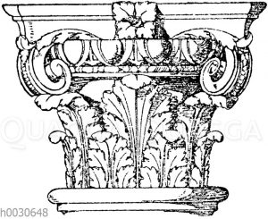 Kompositkapitell. Italienische Renaissance.