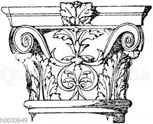 Säulenkapitell vom Palazzo Scrofa in Ferrara. Ital. Renaissance.