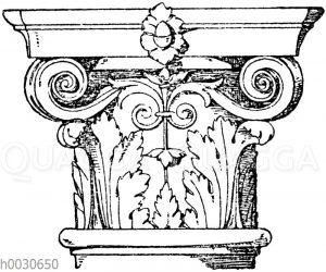 Säulenkapitell. Italienische Renaissance. Von einem Grabmal in Sta. Maria del popolo in Rom. Sansovino.