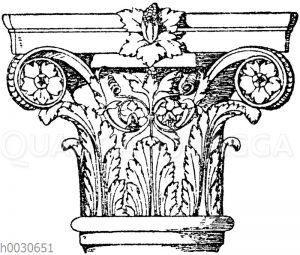 Säulenkapitell. Italien. Renaissance. Palazzo Zorzi in Venedig.