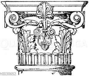 Säulenkapitell vom städtischen Bad in Karlsruhe. Architekt Durm. 19. Jahrhundert.