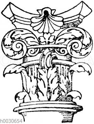 Renaissance Säulenkapitell nach Entwürfen von Heinrich Vogtherr. (Hirth)