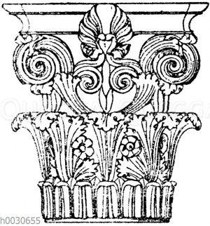 Griechisch-korinthisches Säulenkapitell vom Denkmal des Lysikrates in Athen.