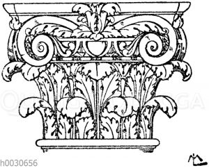 Römisches Kompositkapitell. Im Louvre in Paris.