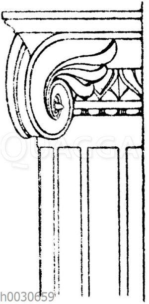 Ionisches Halbsäulenkapitell aus Pompeji.