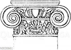 Römisch-ionisches Säulenkapitell. (Musterornarnente)