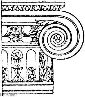 Ionisches Säulenkapitell vom Louvre in Paris.