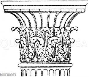 Antikes korinthisches Säulenkapitell. Auf Milo gefunden. (Vorbilder für Fabrikanten und Handwerker)