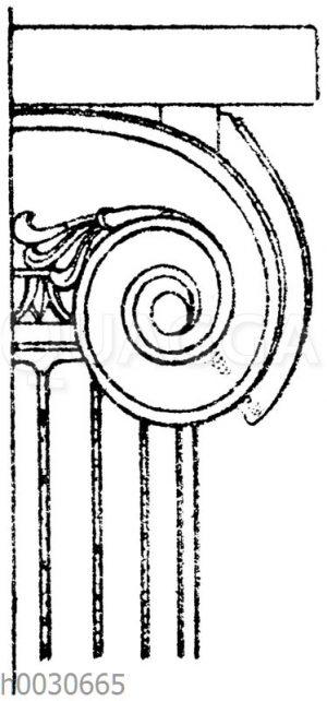 Ionisches Säulenkapitell vom Tempel zu Bassä.