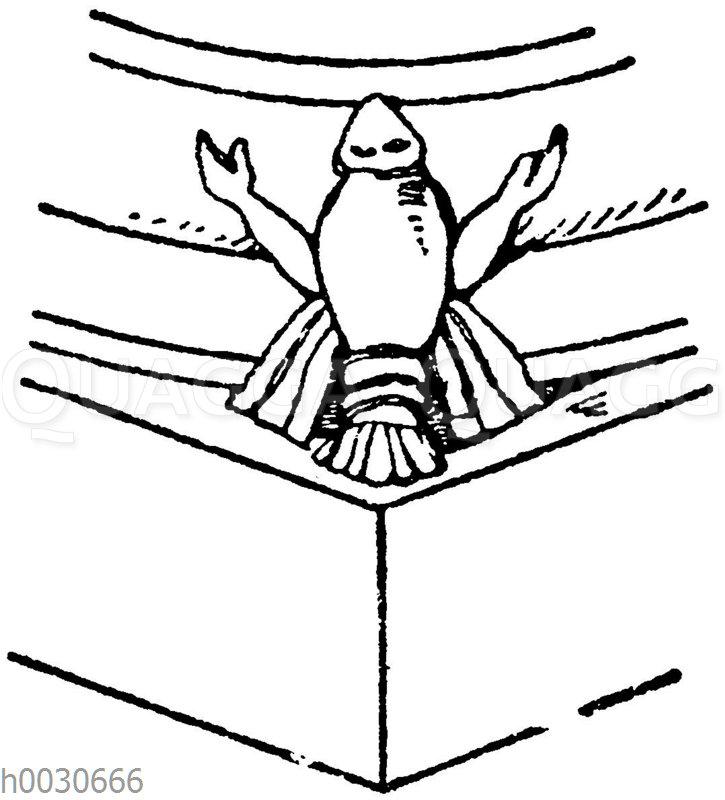 Säulenfuß: Romanische Basis aus dem Zisterzienserkloster zu Maulbronn.