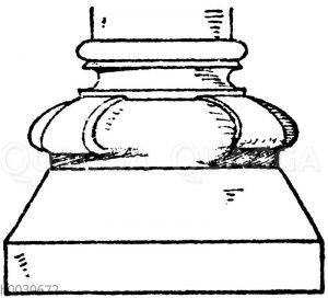 Säulenfuß: Mittelalterliches Säulenfuß
