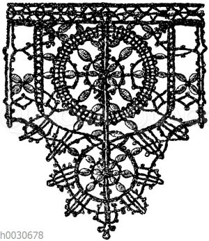 Spitze: Geflochtene Spitze aus dem Ende des 15. Jahrhunderts.
