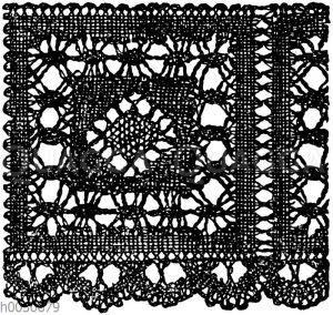 Spitze: Klöppelspitze nach alten Mustern. 19. Jahrhundert.