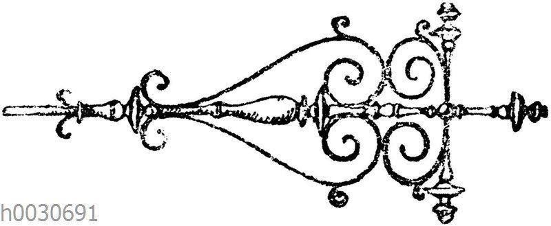 Wandarm vor einem Lesepult in St. Benedetto bei Mantua. Italienische Renaissance. (Gewerbehalle)