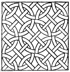 Mosaikmuster: Römisches Mosaikmuster.