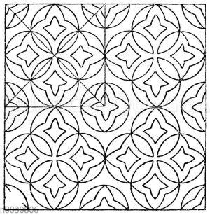 Mosaikmuster: Marmormosaik in den Fensterleibungen im Dom zu Florenz. (Hessemer)