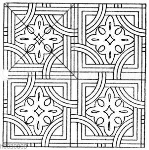 Mosaikmuster: Marmormosaik aus San Vitale in Ravennä. (Hessemer)