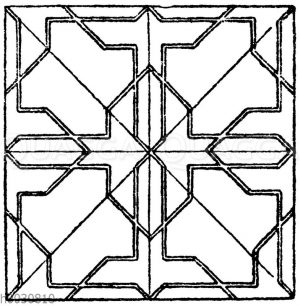 Mosaikmuster: Maurisches Mosaikmuster aus der Gesandtenhalle der Alhambra in Granada. (Owen Jones)