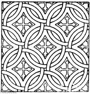 Mosaikmuster aus der Kathedrale zu Monreale auf Sicilien.