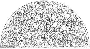 Halbkreis: Römisches Marmorornament. (Vulliamy)