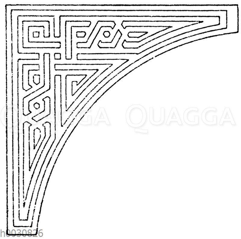 Zwickel: Arabische Dreieckszwickel in Mosaikarbeit. (Prisse d'Avennes)