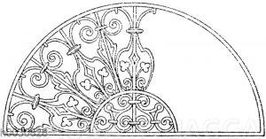 Halbkreis: Oberlichtgitter. Ital. Renaissance. (Gewerbehalle)