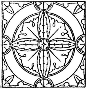 Glasmalereimuster (Teppiche) aus der romanischen und frühgotischen Zeit. Kathedrale zu Bourges.