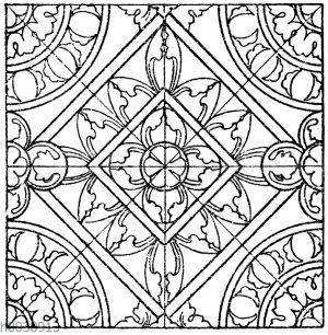 Glasmalereimuster (Teppiche) aus der romanischen und frühgotischen Zeit. Kathedrale zu Soissons.
