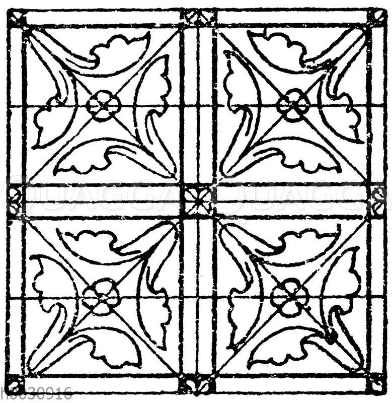 Glasmalereimuster (Teppiche) aus der romanischen und frühgotischen Zeit. Kathedrale zu Chartres.
