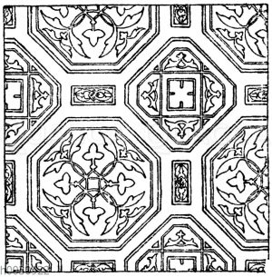 Wandmalereimuster: Altitalienische Wandmalerei aus der Oberkirche zu Assisi.