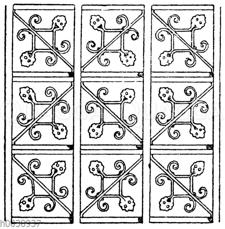 Gittermotiv im Stile der deutschen Renaissance.