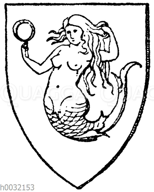 Wappen: Meerjungfrau