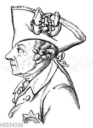 Friedrich II. Nach Lavaters physiognomischen Fragmenten