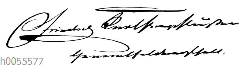 Prinz Friedrich Karl von Preußen: Autgraph