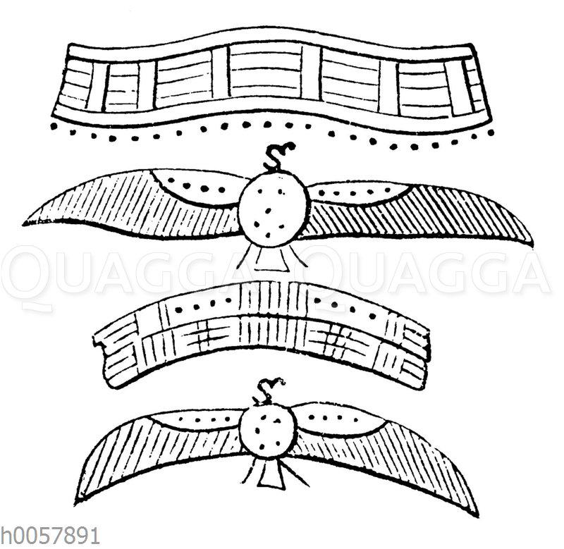 Der Rücken- und Halsschmuck des heiligen Apis